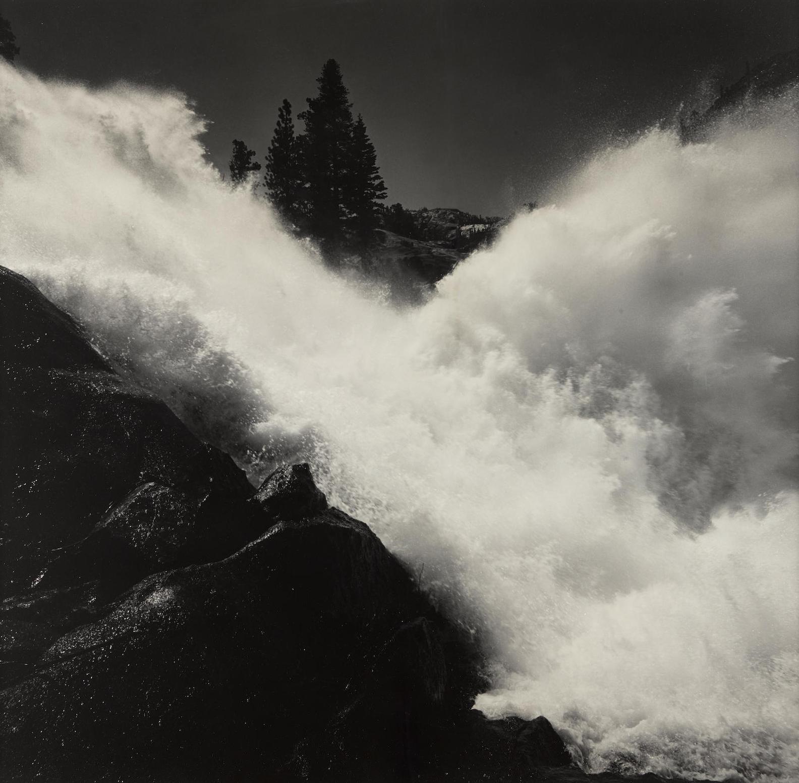 Ansel Adams-Waterwheel Falls, Yosemite National Park-1940