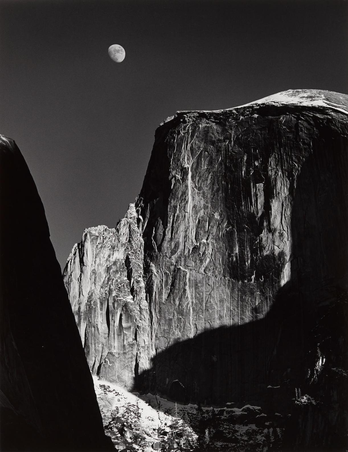 Ansel Adams-Moon And Half Dome, Yosemite National Park, Yosemite-1960