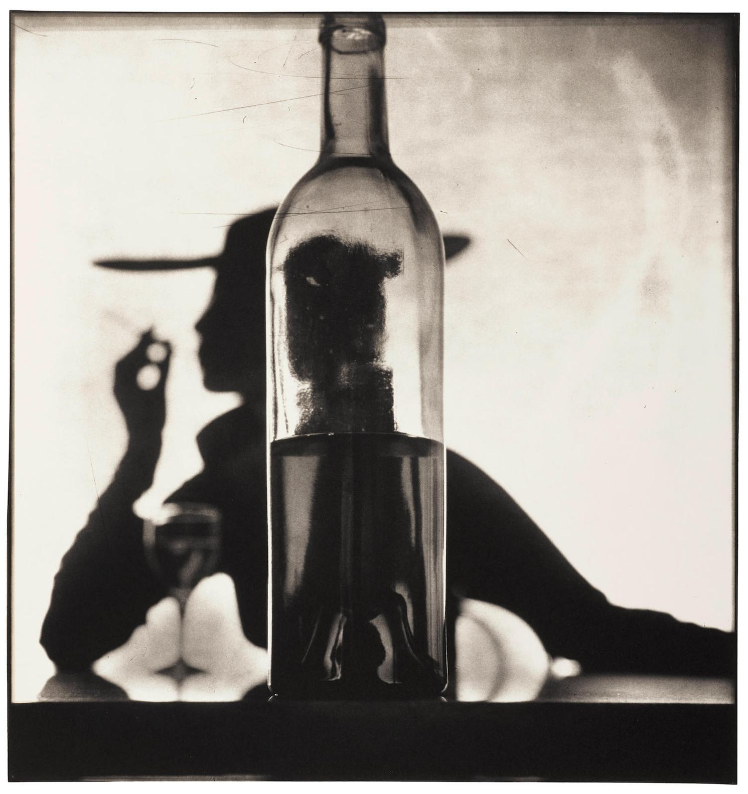 Irving Penn-Girl Behind Bottle, New York (Jean Patchett)-1949