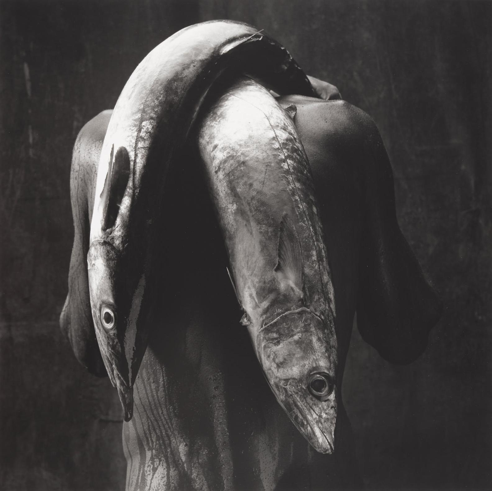 Mario Cravo Neto-Man With Two Fish-1992