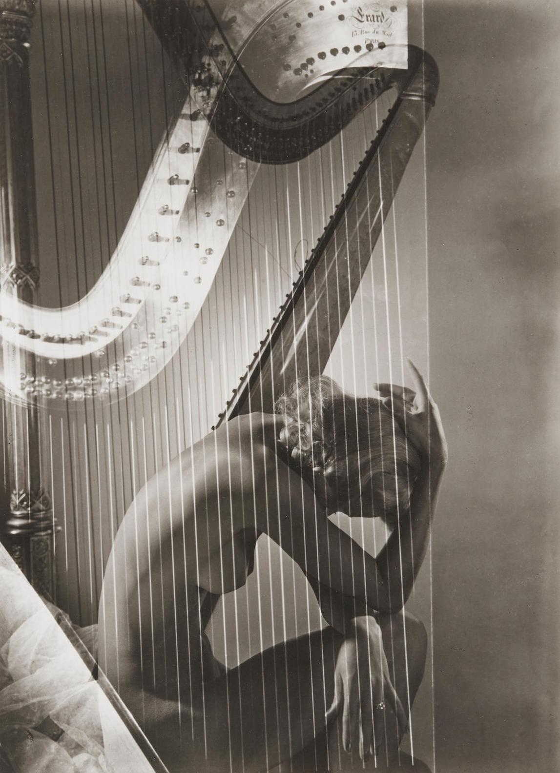 Horst P. Horst-Lisa (Fonssagrives-Penn) With Harp, Paris-1939