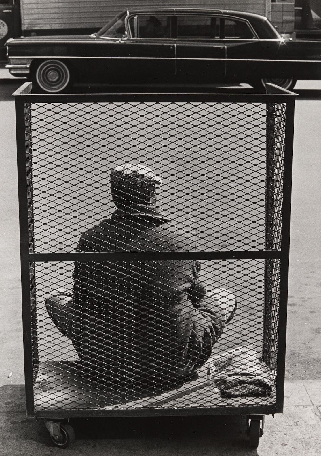 Roy DeCarava-Man Sitting In Cart, NYC-1966