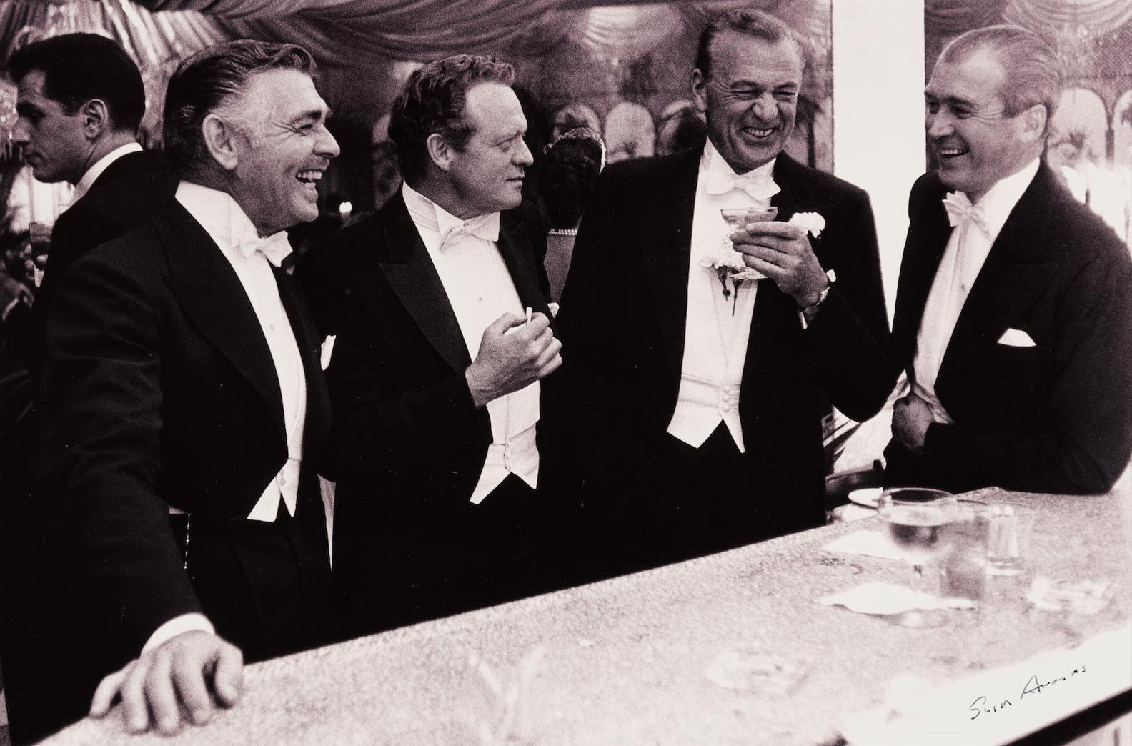 Slim Aarons-Kings Of Hollywood (Clark Gable, Van Heflin, Gary Cooper And James Stewart), Romanoffs, New Years Eve-1957