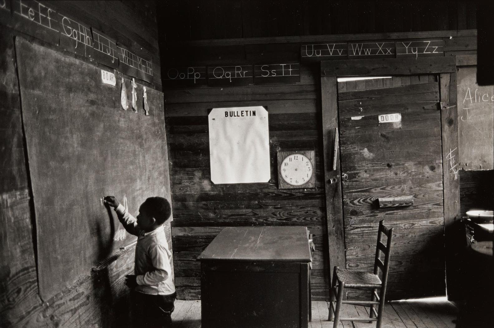 Bruce Davidson-Child At Blackboard In A Schoolroom, Selma, Alabama-1965
