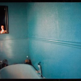 Nan Goldin-Self Portrait In Blue Bathroom, London, 1980