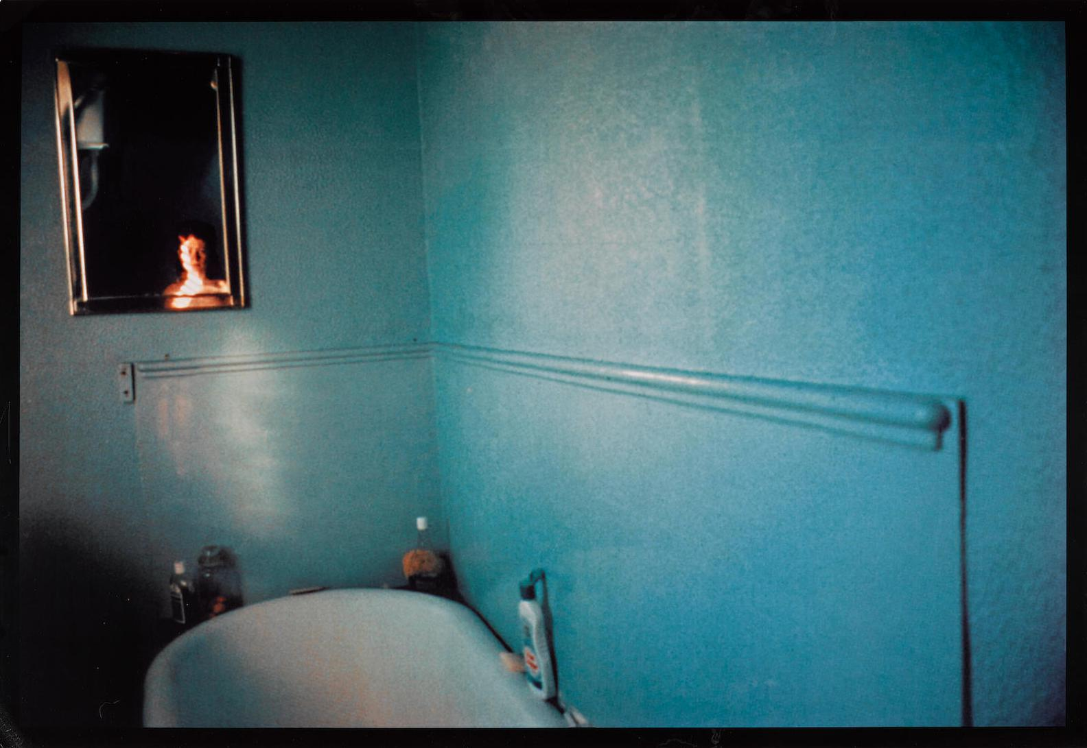 Nan Goldin-Self Portrait In Blue Bathroom, London, 1980-