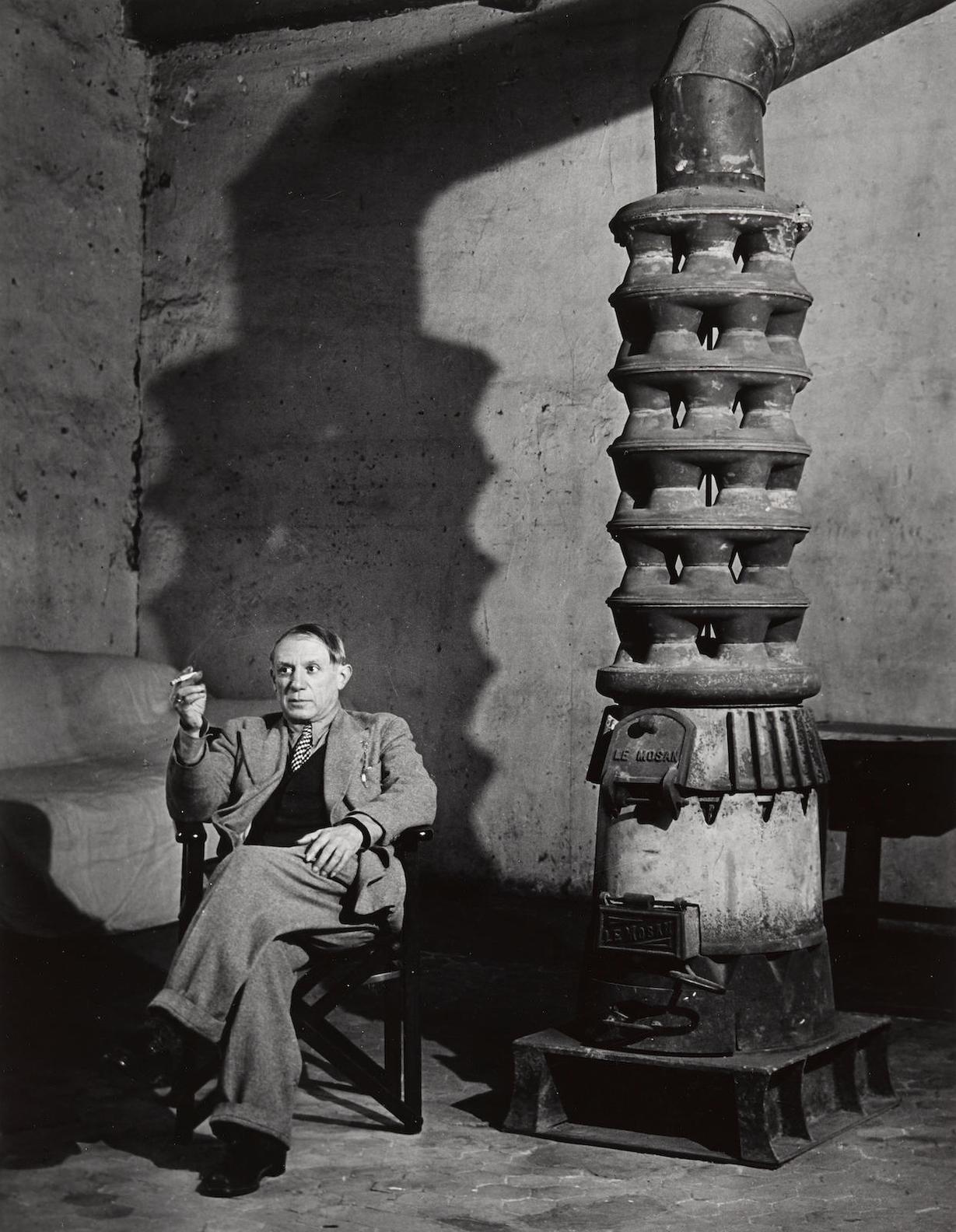 Brassai-Picasso In His Studio, Rue Des Augustins, From Ten Photographs-1939