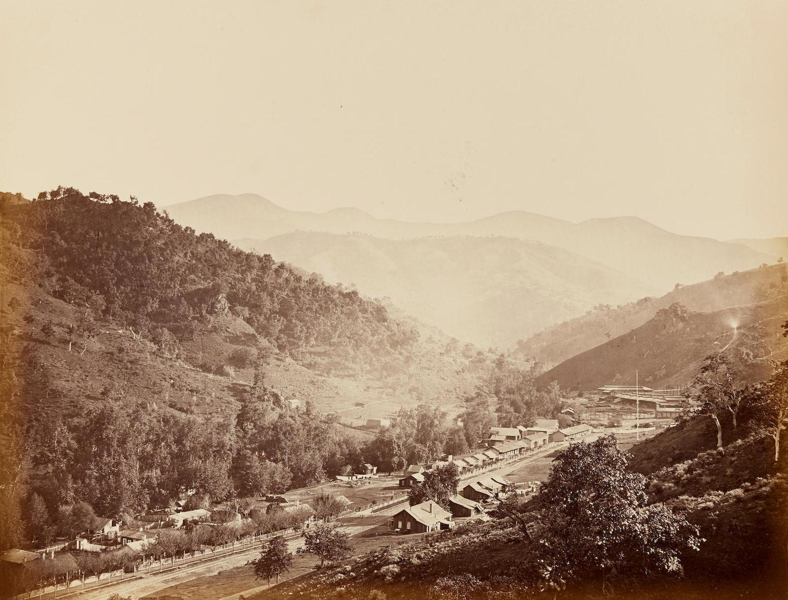 Carleton E. Watkins-Street View, Acienda, New Almaden, Santa Clara County, California-1863