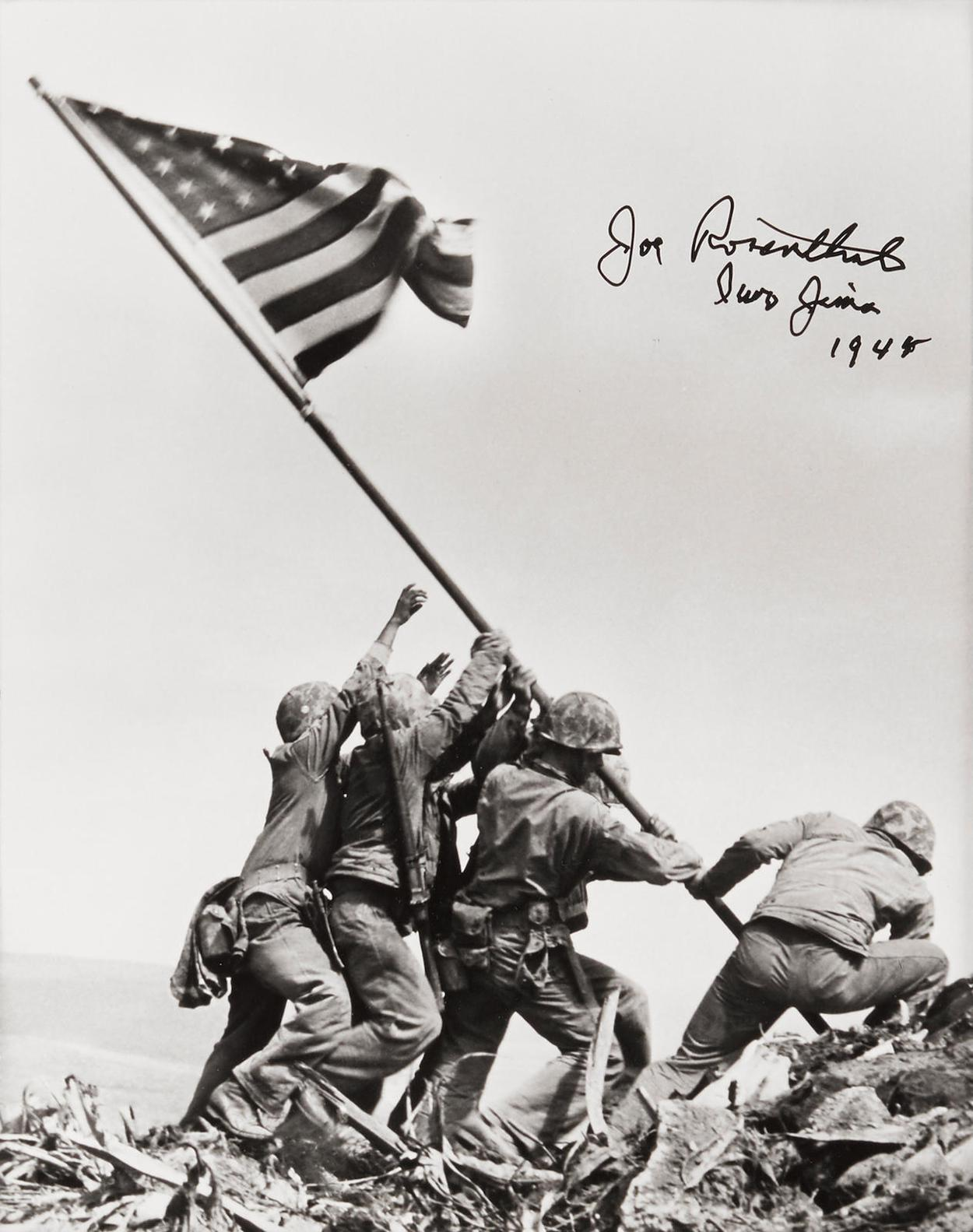 Joe Rosenthal-Raising The Flag At Iwo Jima-1945