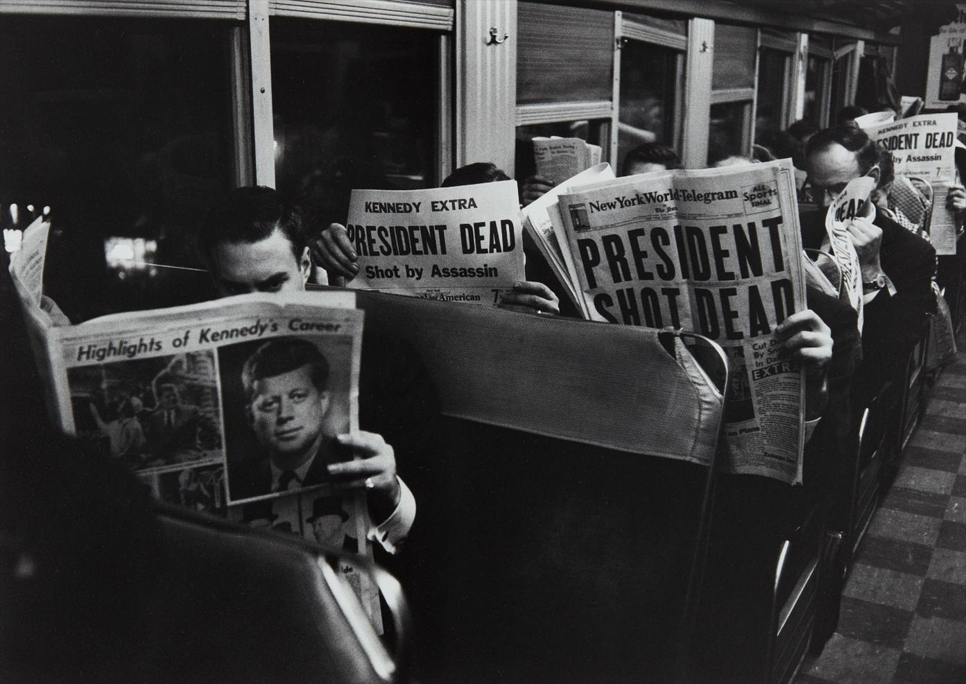 Carl Mydans - On The 6:25 From Grand Central To Stamford, November 22-1963