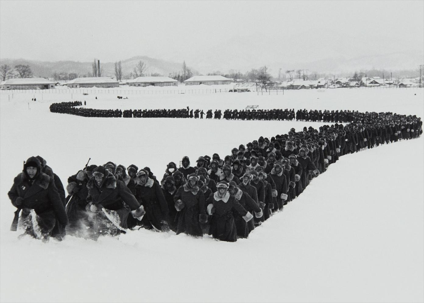 Carl Mydans - The Newly Created Japanese Police Force Moves Out Of Camp For Winter Training, Hokkaido, Japan-1951