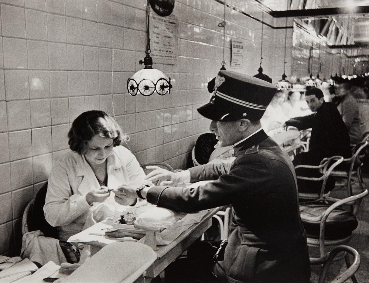 Alfred Eisenstaedt-An Officer Of Mussolinis Army Having A Manicure In Milan, Italy-1934
