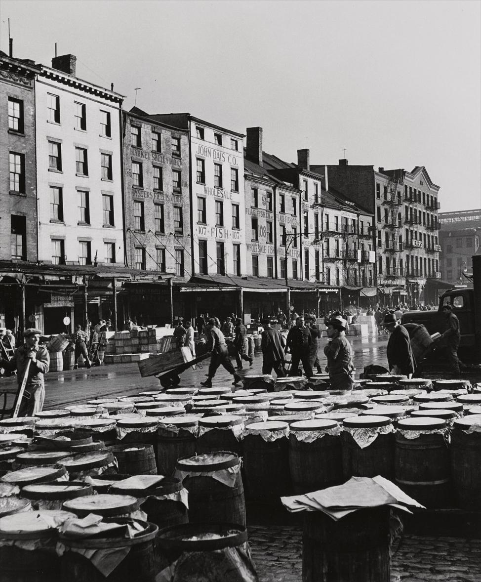 Andreas Feininger-Fulton Fish Market, Port Of New York-1946