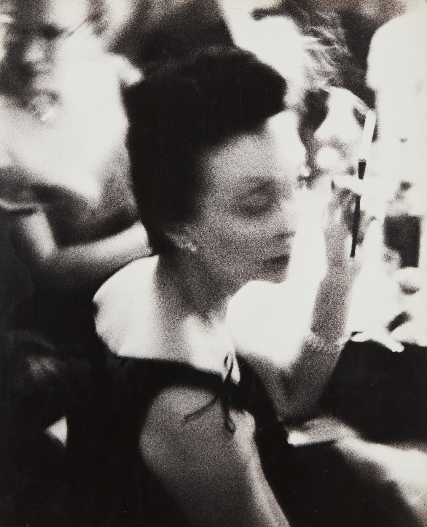 William Klein-Woman + Cigarette Holder, Ball, Waldorf, New York-1955