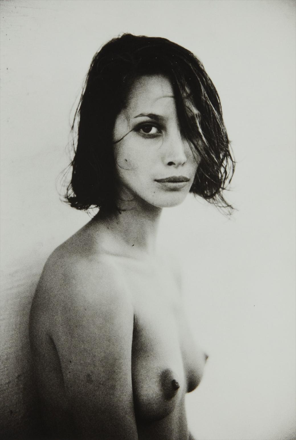 Sante D'Orazio-Christy Turlington, One Eye Covered, Hollywood, Ca-1989