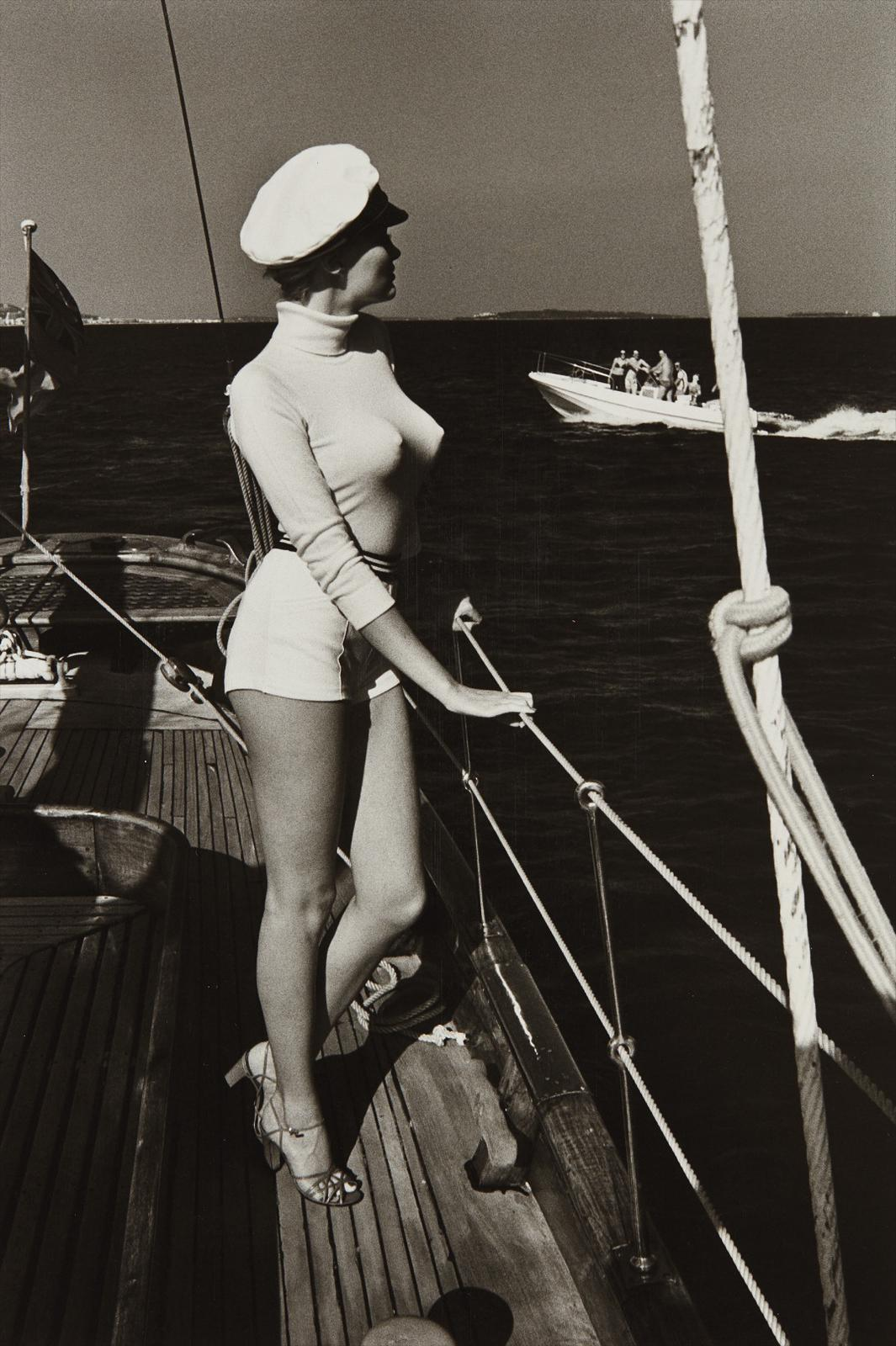 Helmut Newton-Winnie Off The Coast Of Cannes-1975