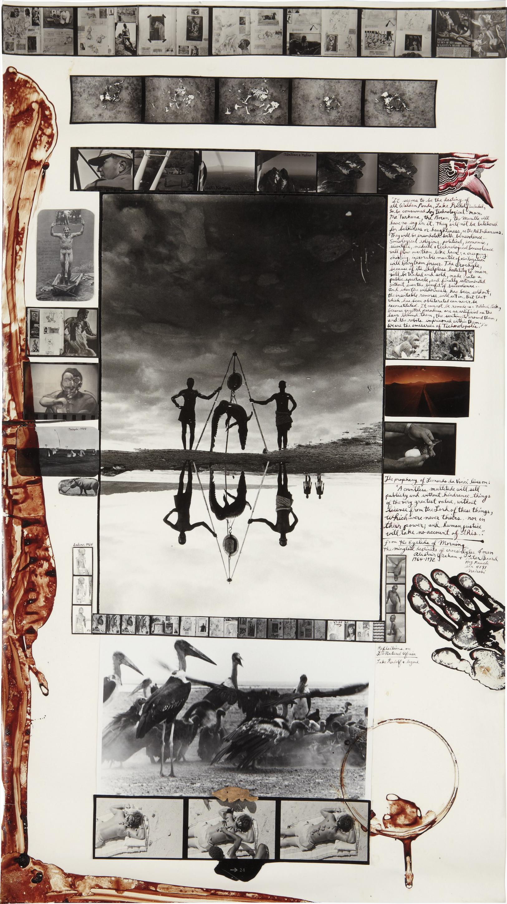 Peter Beard-Reflections In Natural History, Moite Bay, Lake Rudolf-1965
