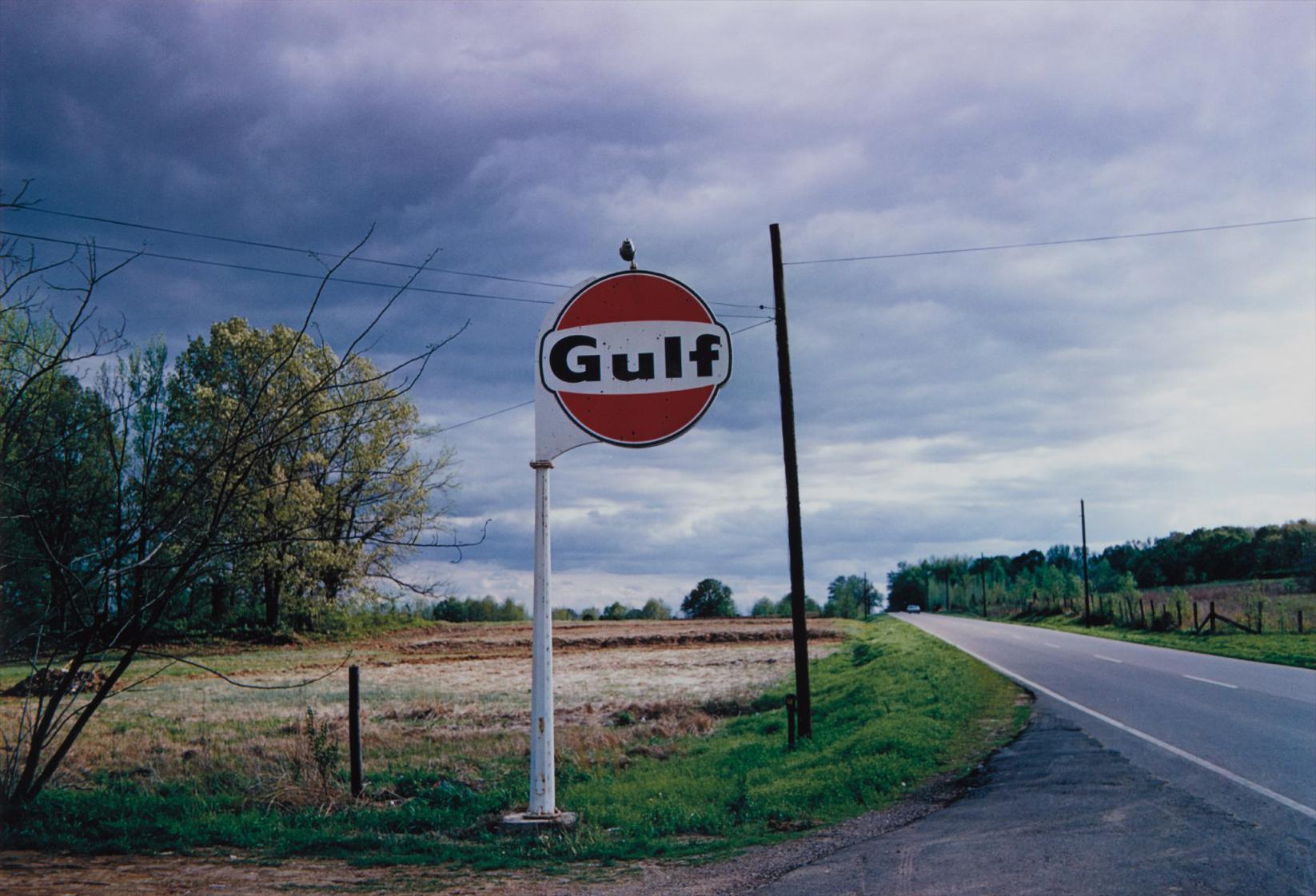 William Eggleston-Tennessee (Gulf Sign)-1972