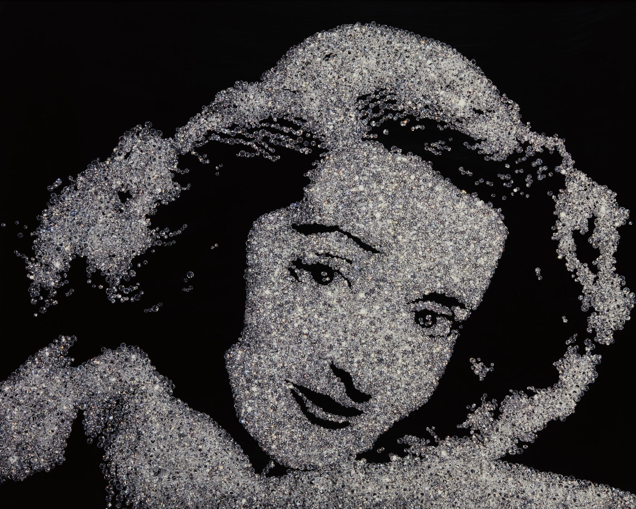 Vik Muniz-Bette Davis From Pictures Of Diamonds-2004