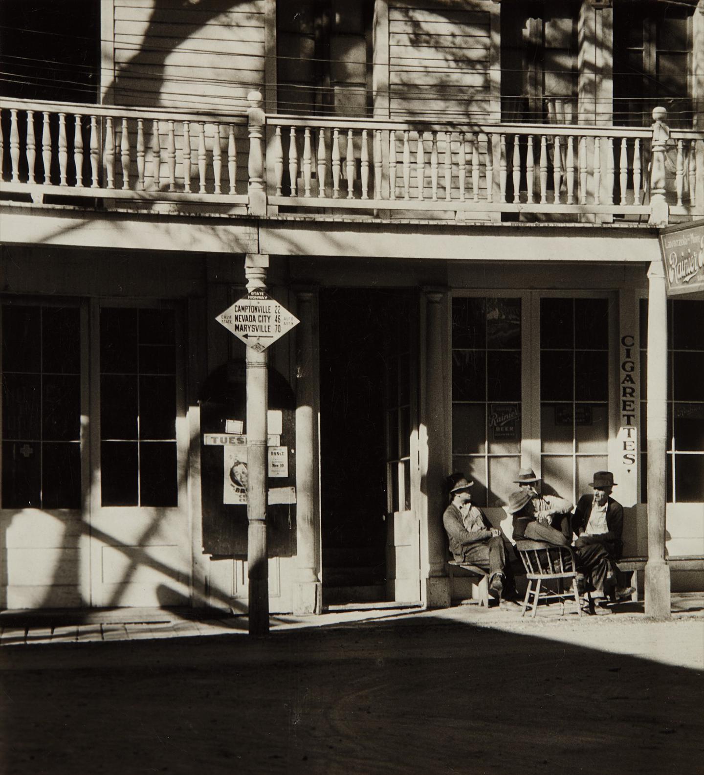 Alma Lavenson-St. Charles Hotel, Downieville-1934
