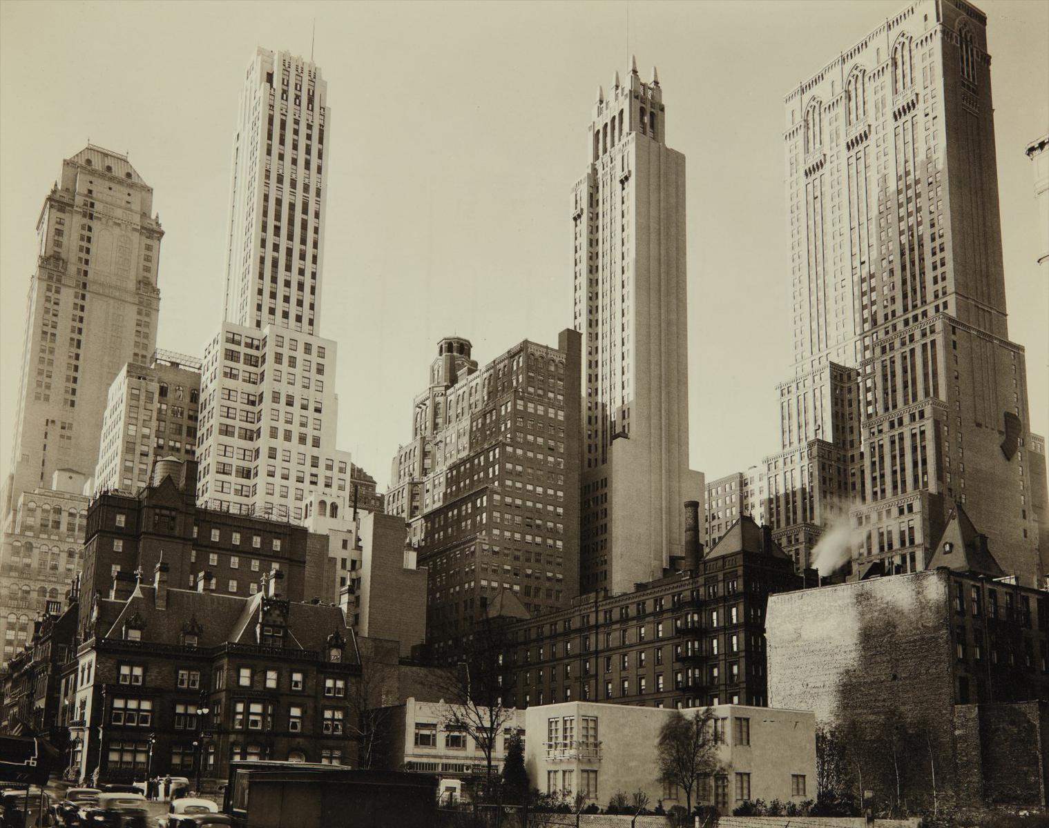 Berenice Abbott-Park Avenue And Thirty-Ninth Street, Manhattan-1936