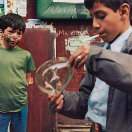 Helen Levitt-New York (Boy With Bubble)-1972