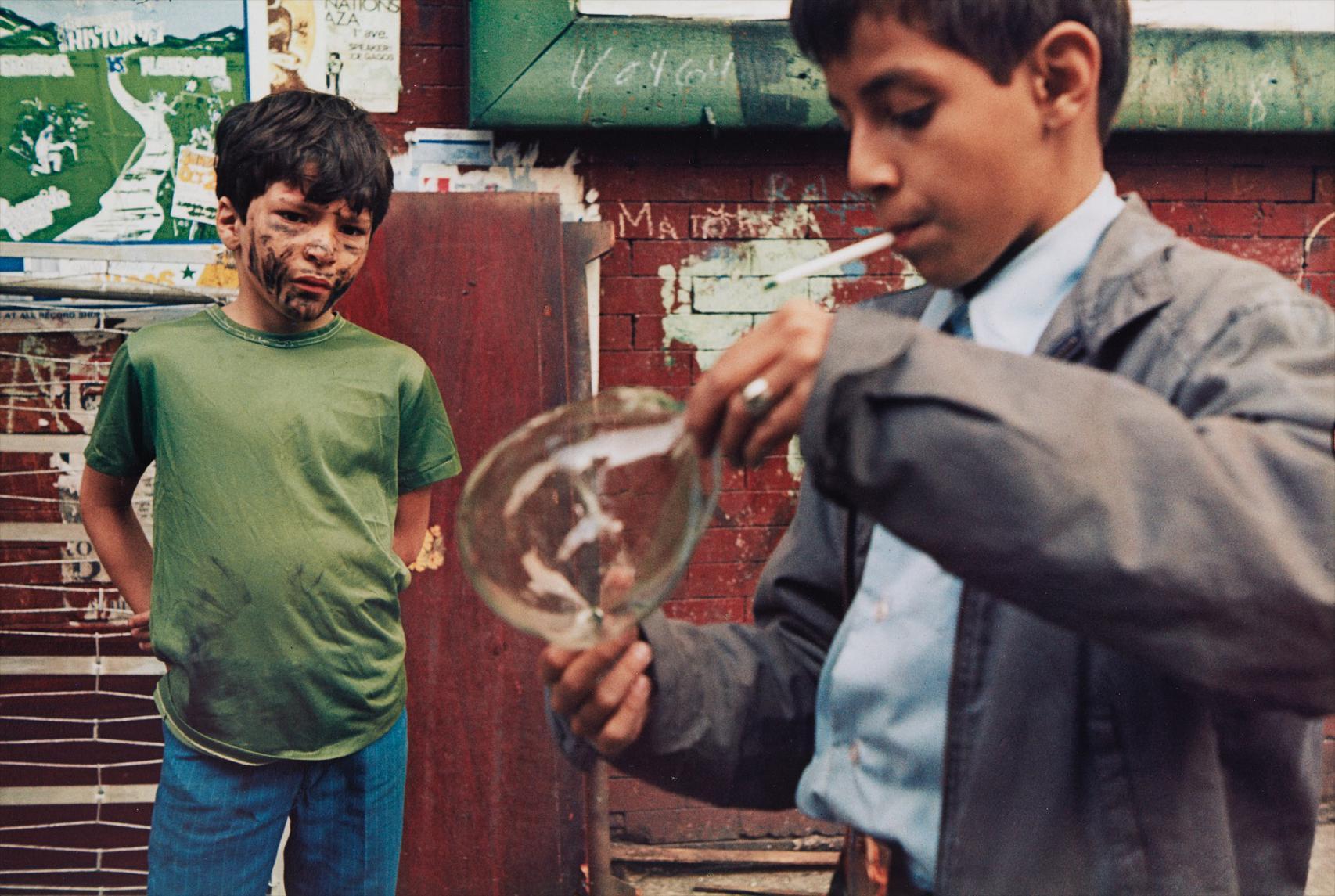 Helen Levitt-New York (Boy With Bubble)-1972