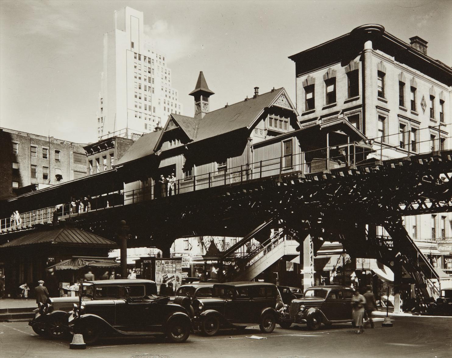 Berenice Abbott-Hanover Square, Manhattan, May 25Th-1936