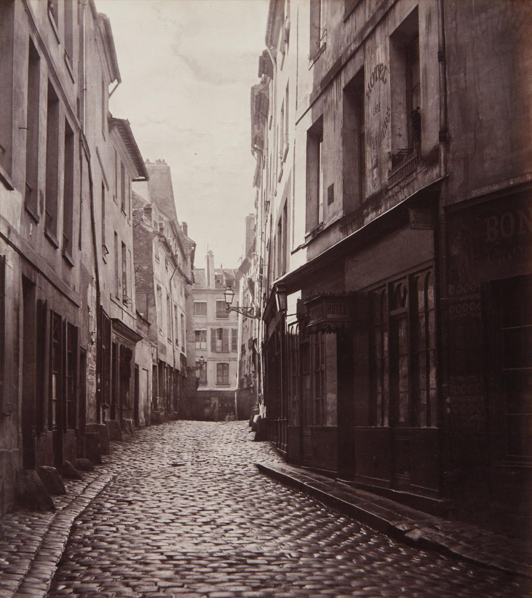 Charles Marville-Rue Des Amandiers-1860