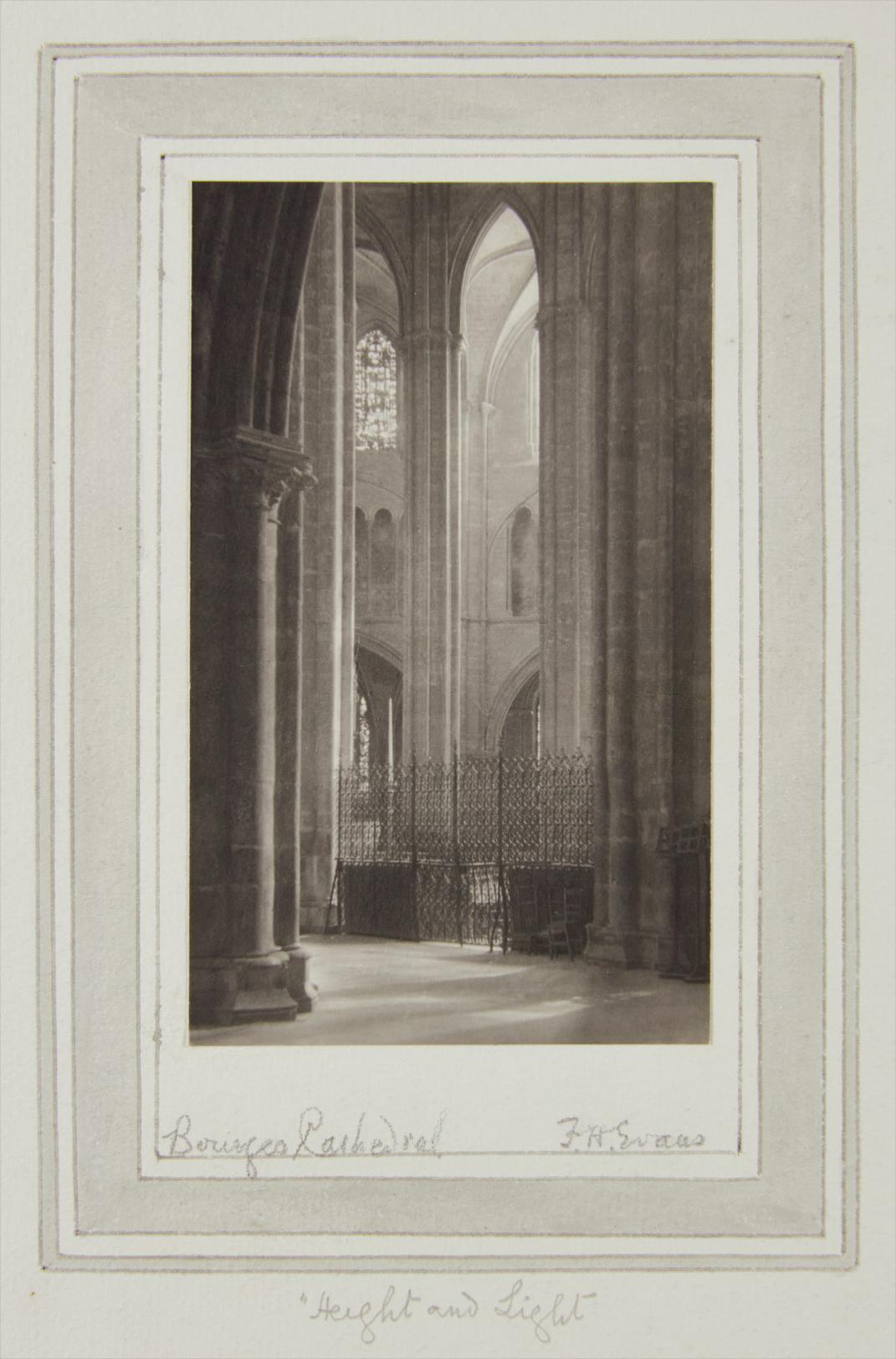 Frederick H. Evans-Height And Light, Bourges Cathedral-1907