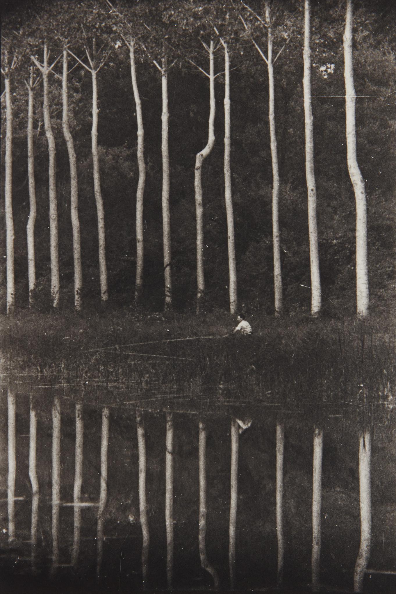 Irving Penn-Man Fishing From Bank Of Seine-1950