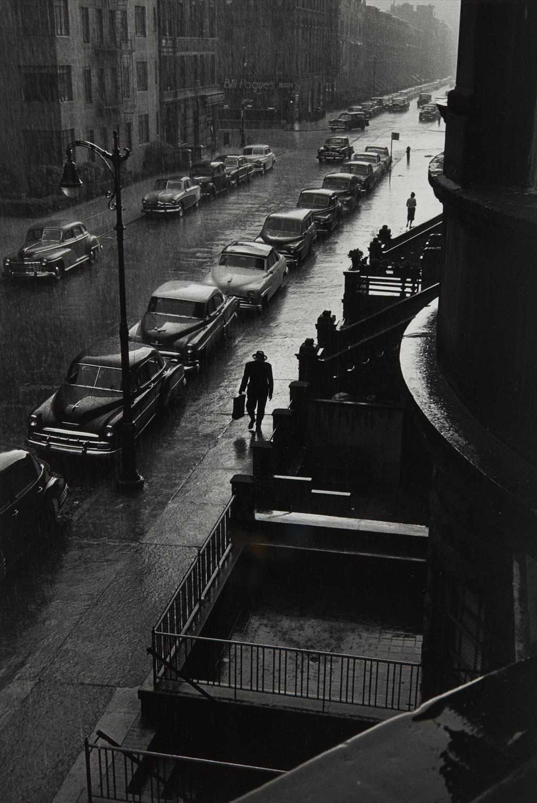 Ruth Orkin-Man In Rain, W. 88Th St., N.Y.C.-1952
