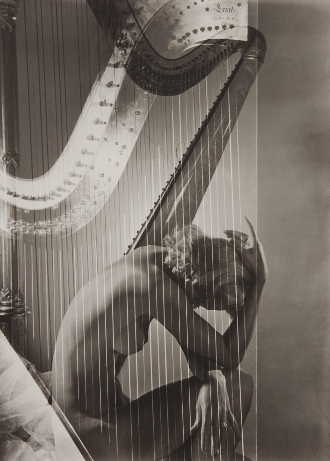 Horst P. Horst-Lisa With Harp, Paris-1939