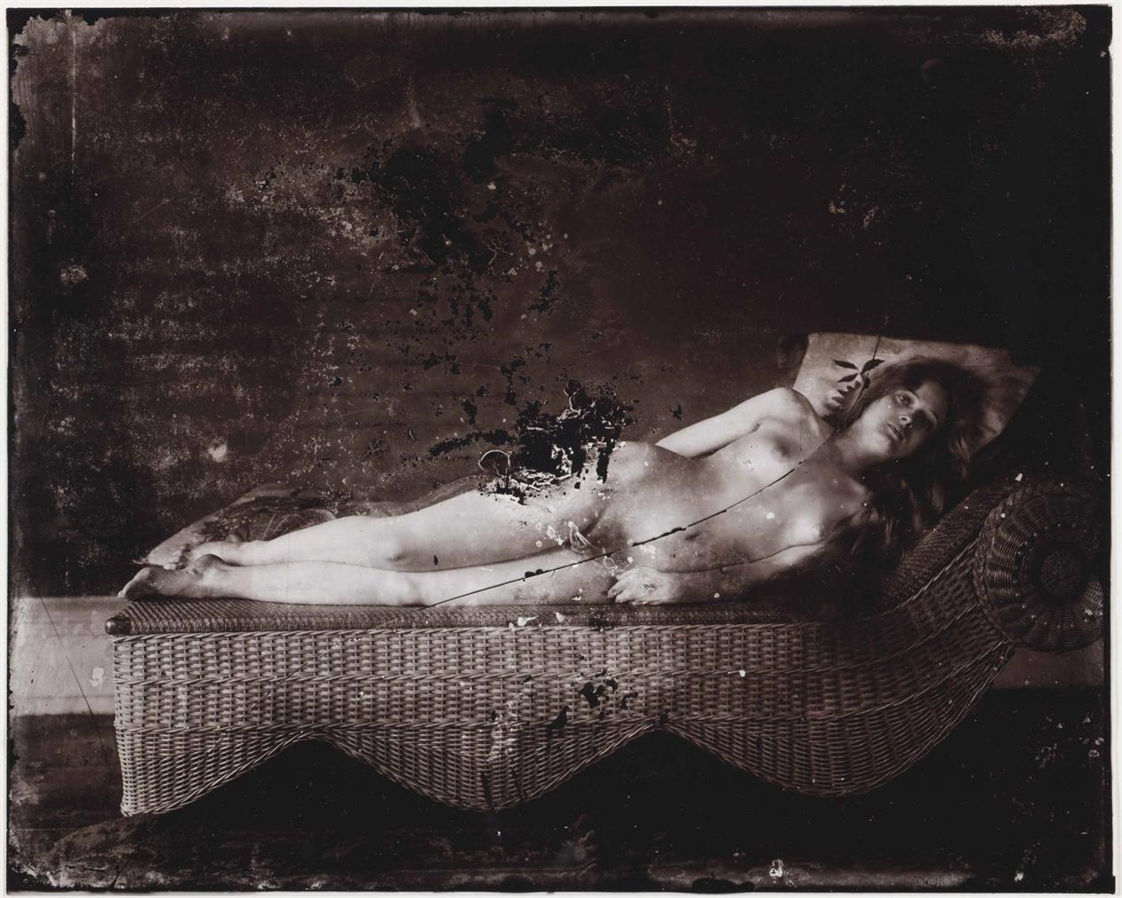 E. J. Bellocq - New Orleans (Nude On A Wicker Chaise)-1913