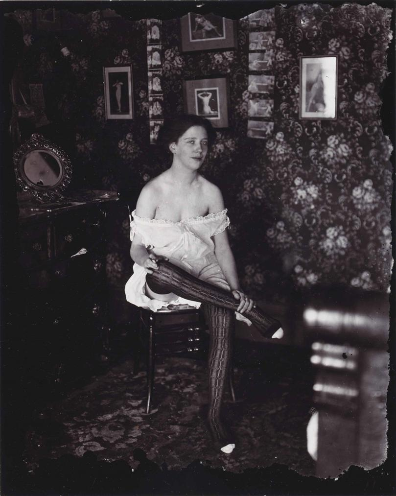 E. J. Bellocq - New Orleans (Seated Woman With Crossed Legs)-1913