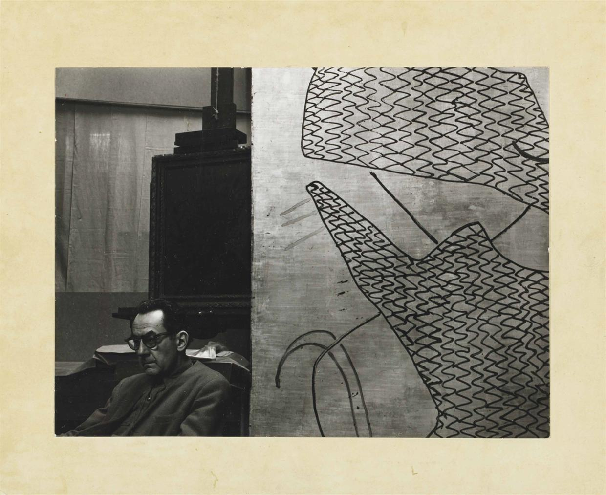 Man Ray-Self-Portrait, Seated In Paris Studio-1930