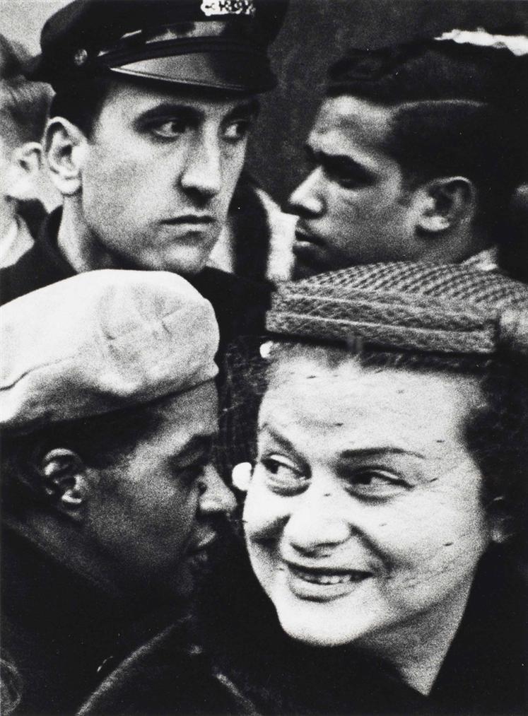 William Klein-4 Heads, New York-1954