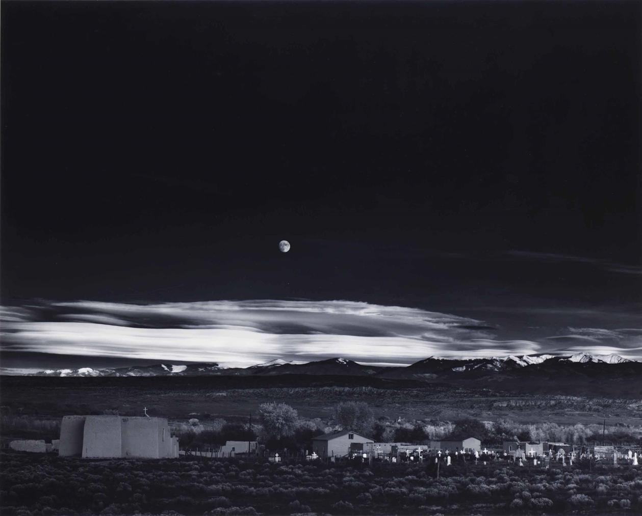 Ansel Adams-Moonrise, Hernandez, New Mexico-1941