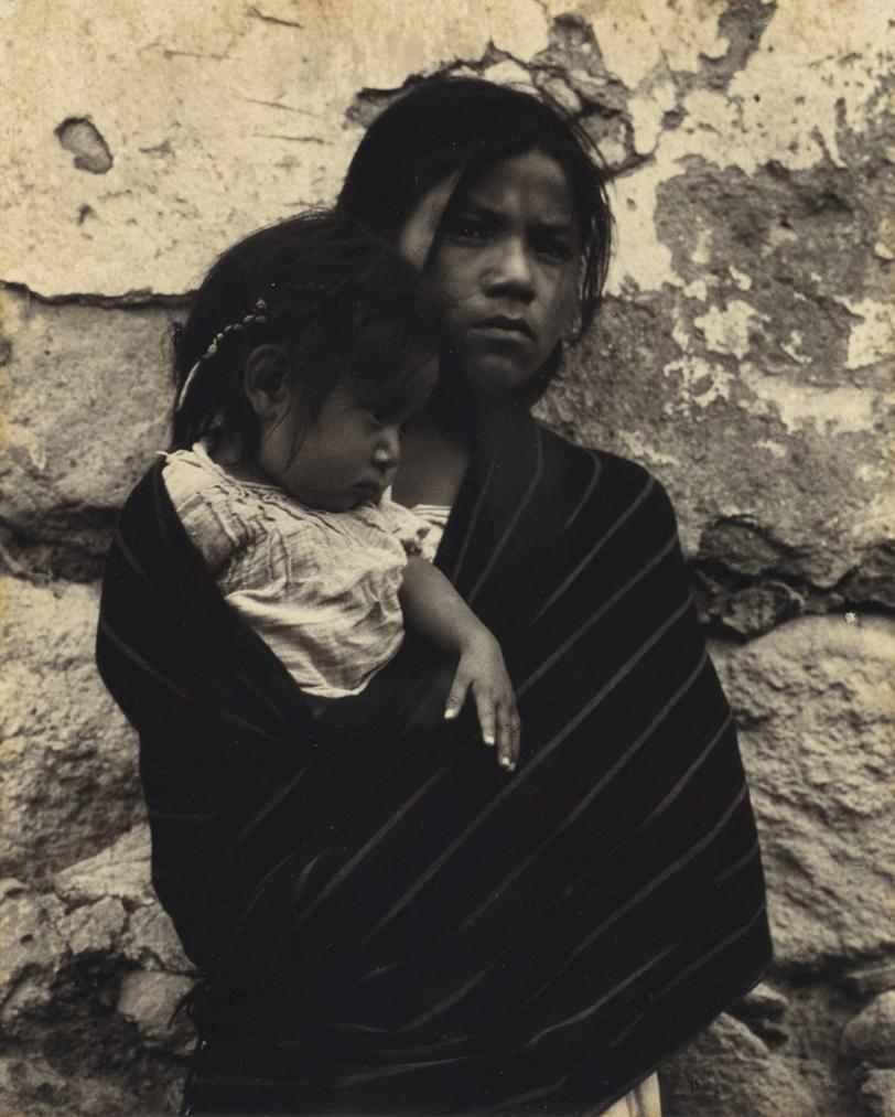 Paul Strand-Girl And Child, Toluca, Mexico-1933