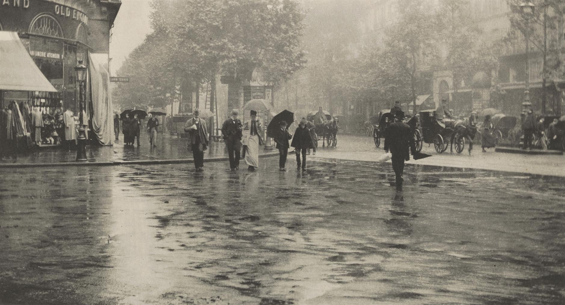 Alfred Stieglitz-A Wet Day On The Boulevard, Paris, 1894 From Picturesque Bits Of New York And Other Studies-