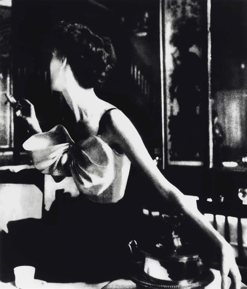 Lillian Bassman-Across The Restaurant: Barbara Mullen In A Dress By Jacques Fath At Le Grand Vefour, Paris, Harpers Bazaar, April 1949-