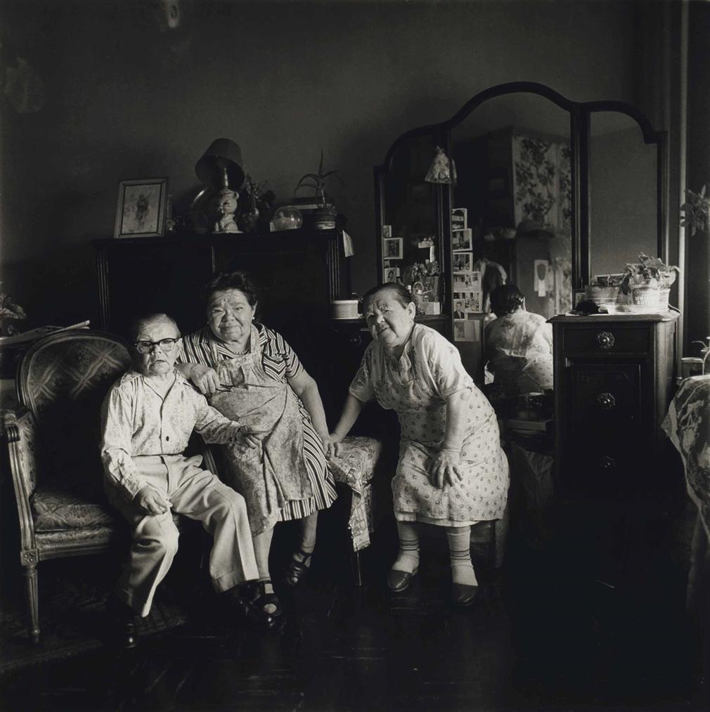 Diane Arbus-Russian Midget Friends In A Living Room On 100Th St, N.Y.C.-1963
