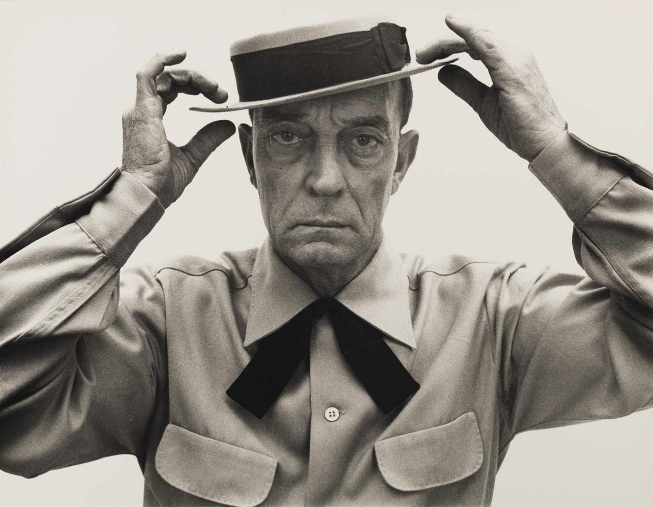 Richard Avedon-Buster Keaton, New York-1952