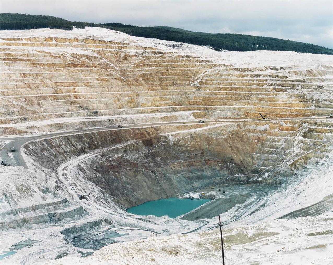 Edward Burtynsky-Mines #17, Lornex Open Pit Copper Mine, High Valley, British Columbia-1985