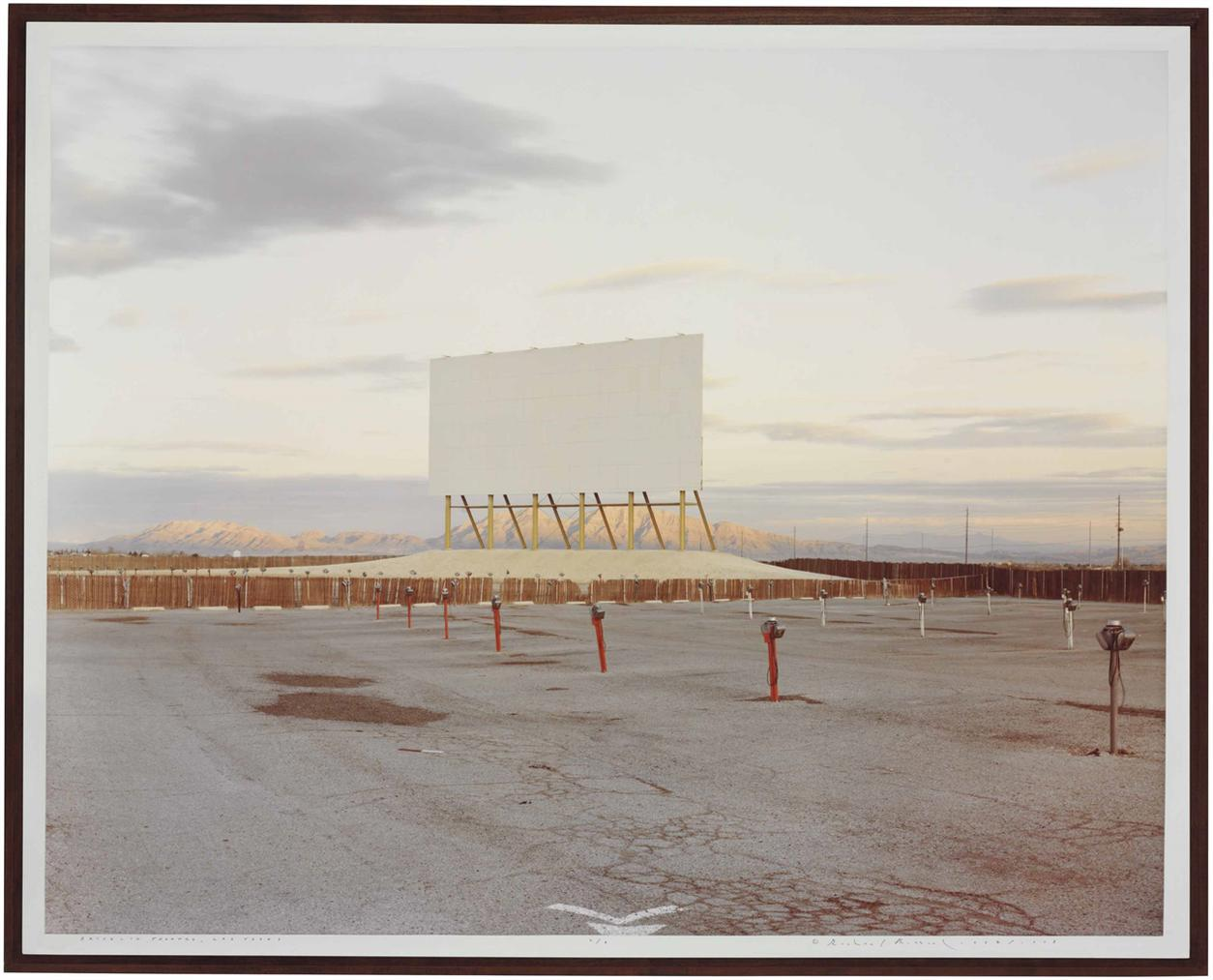 Richard Misrach-Drive-In Theatre, Las Vegas From American History Lessons-1987