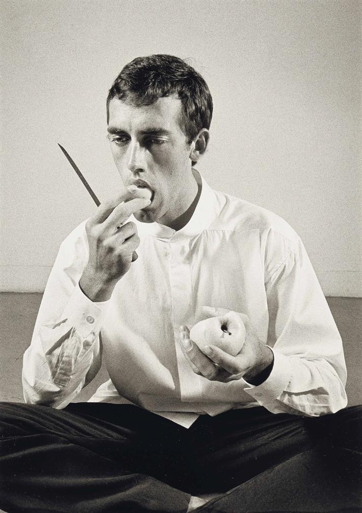 Peter Hujar-Forbidden Fruit (David Wojnarowicz Eating An Apple In An Issey Miyake Shirt) From, The Twelve Perfect Christmas Gifts From Dianne B.-1983