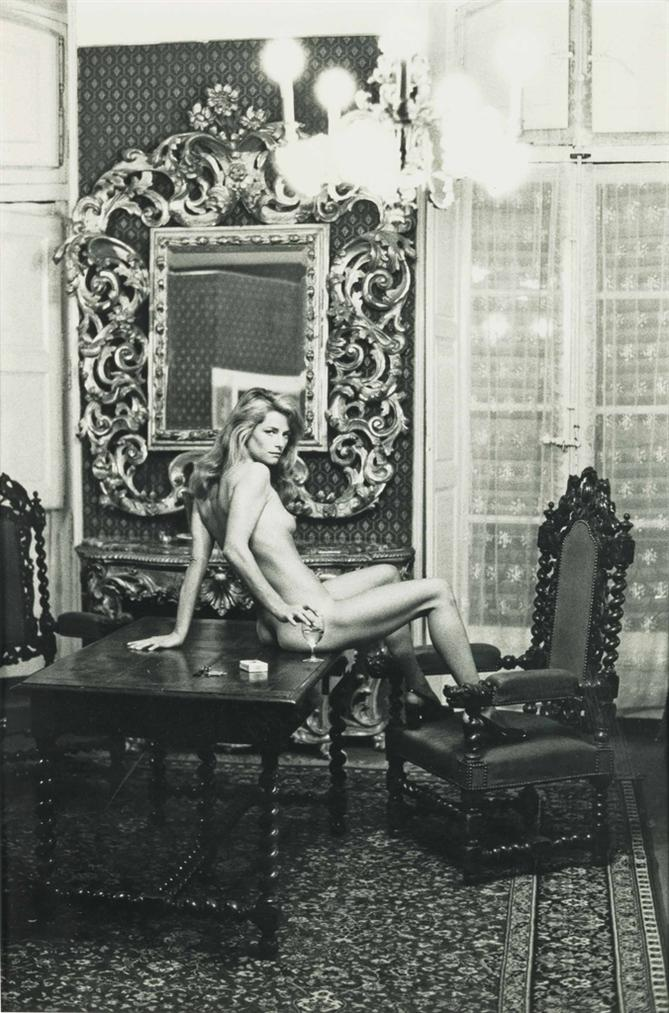 Helmut Newton-Charlotte Rampling At The Hotel Nord Pinus, Arles, France-1973