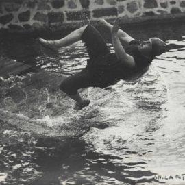 Jacques Henri Lartigue-Swimming Pool At Chateau De Rouzat, My Cousin Jean Haguet-1910