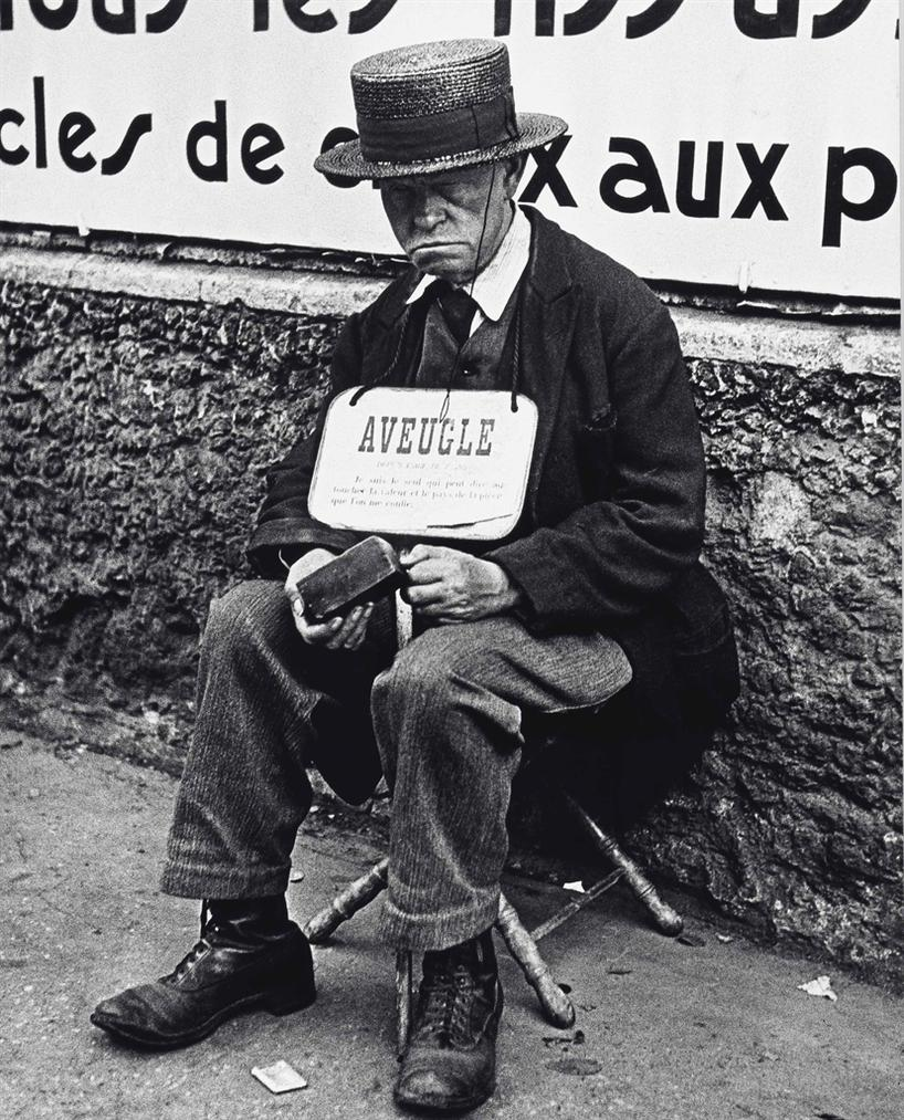 Lisette Model-Blind Man, Paris-1937