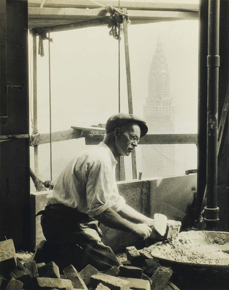 Lewis Wickes Hine-Bricklayer, Empire State Building-1930